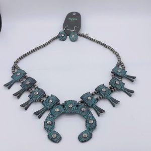 Patina Thunderhill Squash Blossom Necklace/Earring